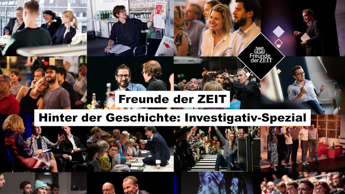 Collage von Veranstaltungen Freunde der Zeit für Webinar