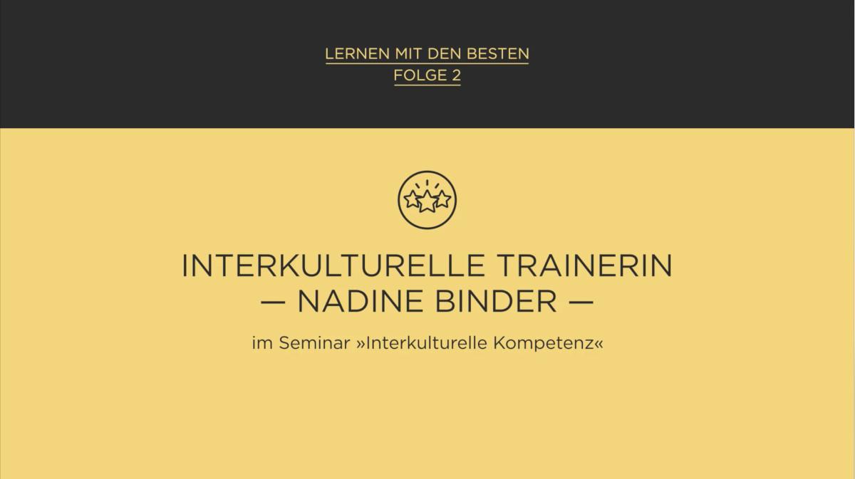 Lernen mit den Besten: Dr. Nadine Binder