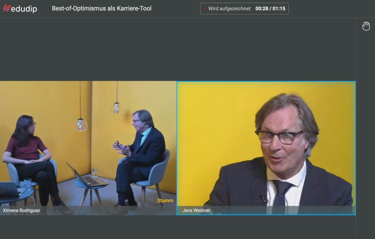 Voll in seinem Element: Prof. Dr. Jens Weidner im Webinar der ZEIT Akademie