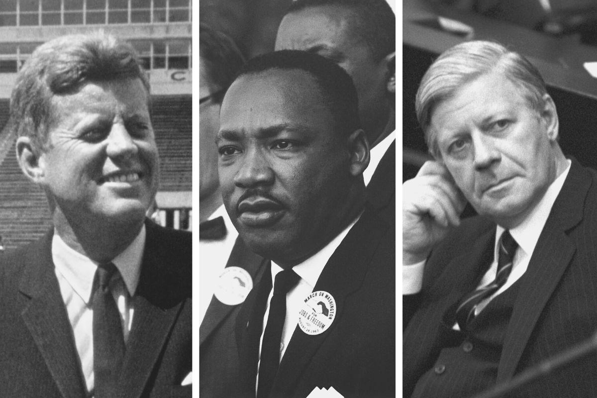Kenny, King und Schmidt als 3 große Redner für den Videokurs Rhetorik